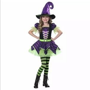 Pretty Potion Witch Girls Halloween Costume M 8-10